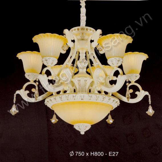 Đèn chùm phong cách Châu Âu Ø750 EC216-077-7201/6 EC216-077-7201/6