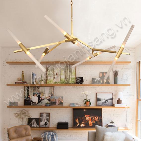 Đèn thả trang trí (thân xi vàng hoặc sơn thường) 10 bóng PH8-TH830 PH8-TH830